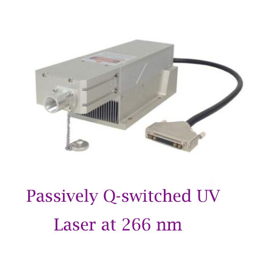 Long Lifetime Easy Operating 266nm Passively Q-switched UV Laser 0.1~10uJ/ 1~120mW