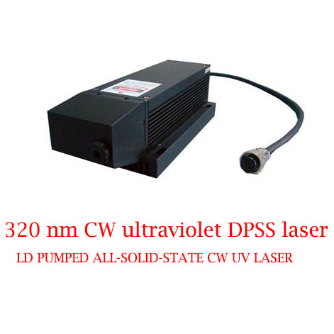 Best Reliability And Lifetime 320nm CW Ultraviolet DPSS Laser 1-20mW