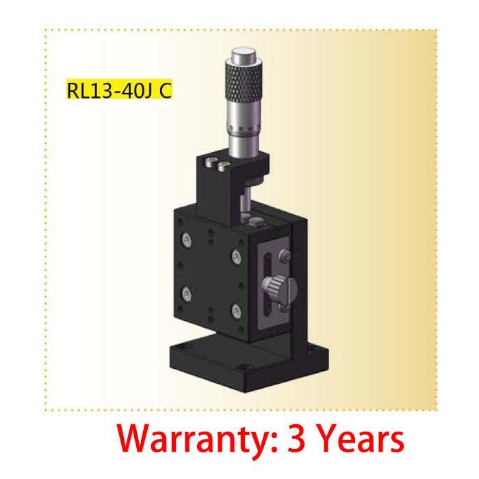 Z-axis L Plate Cross Guide Manual Fine Tuning Platform RL13-40JC 40*40mm
