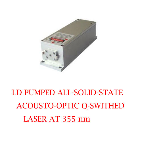 High Peak Power 355nm Actively Q-switched UV Laser 1~40uJ/ 1~100mW