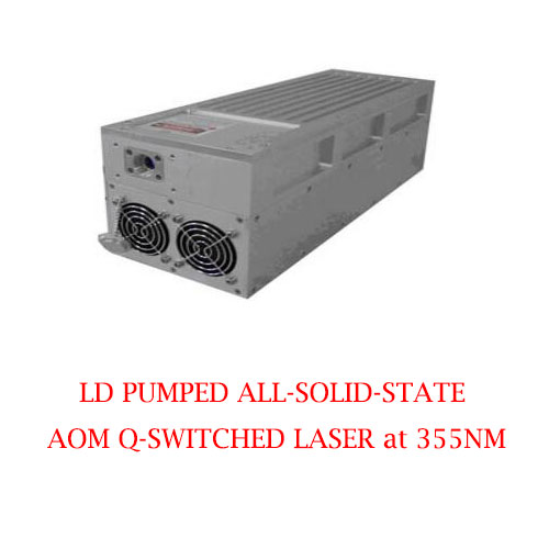 Controllable or Uncontrollable Choosed 355nm Actively AOM Q-switched UV Laser 1~150µJ/1-3000mW