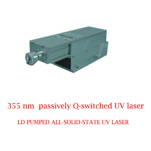 Lightweight compact design 355nm passively Q-switched UV laser 0.1~90µJ/1-800mW