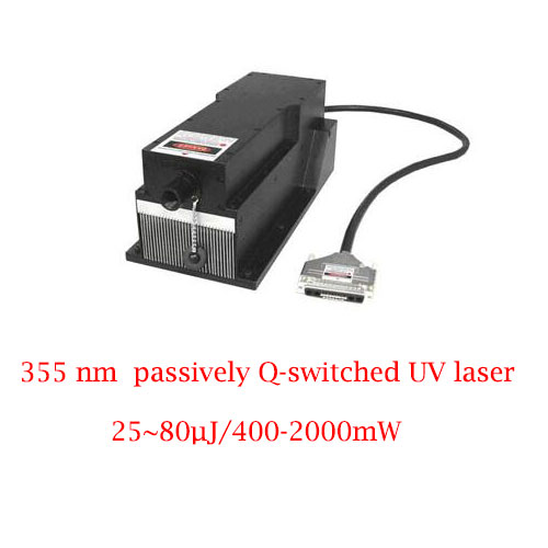Best Reliability And Lifetime 355nm Passively Q-switched UV Laser 25~80µJ/400-2000mW