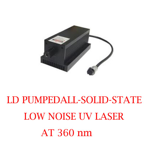 Long Lifetime Easy Operating 360nm Low Noise UV Laser 1~50mW