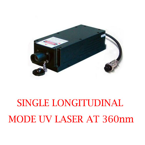 Best reliability and lifetime 360nm ultraviolet single longitudinal mode laser 1~50mW