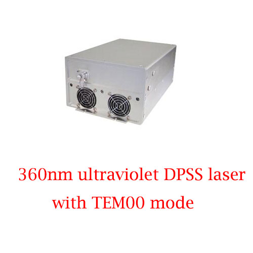 High Power Stability 360nm Ultraviolet DPSS Laser With TEM00 Mode 100~200mW