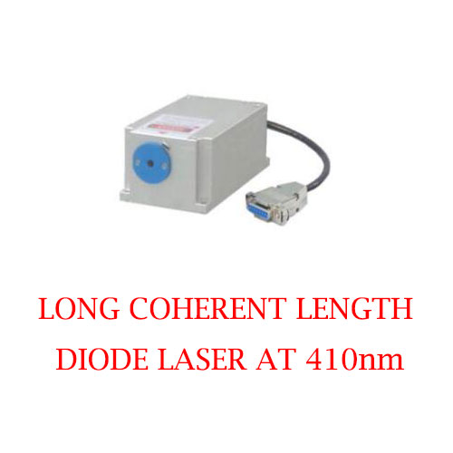 Stable Wavelength 410nm Long Coherent Length Blue Laser 1~50mW
