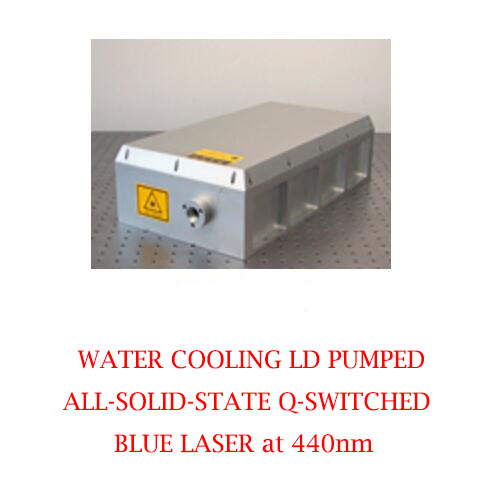 High Peak Power 440nm Solid State Q-switched Laser With Water Cooling 1~2W