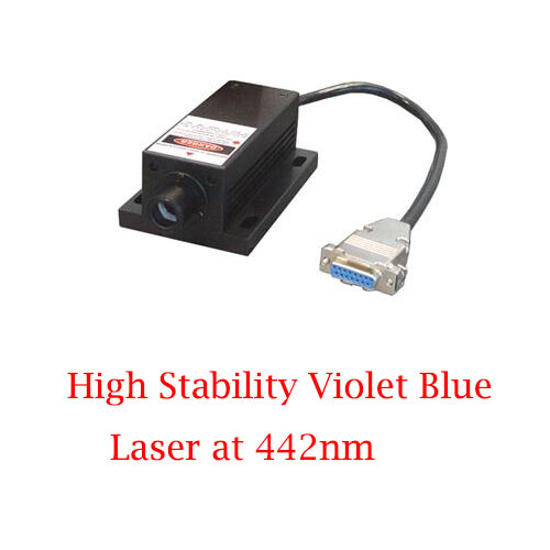 Ultra Compact Easy Operating 442nm High Stability Violet Blue Laser 1~80mW