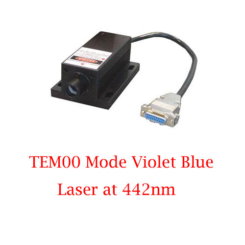 Easy Operating Low Cost 442nm TEM00 Mode Violet Blue Laser 1~15mW