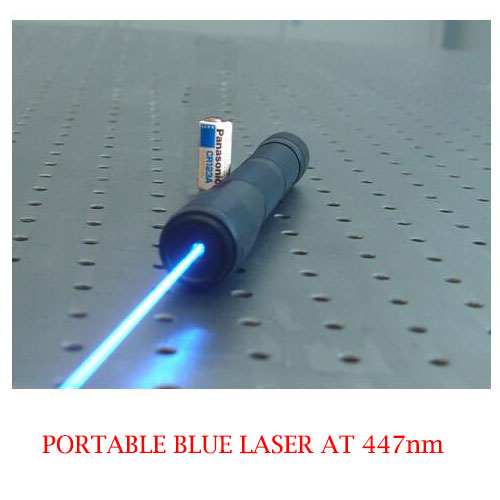 High Output Power 447nm Portable Blue Laser Pointer 5~500mW