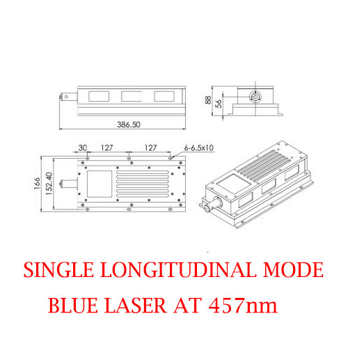 Easy operating 457nm State Singal Longitudinal Mode Blue Laser 500~2000mW