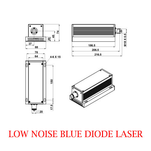 Multimode Easy Operating 462nm Low Noise Blue Laser 1000~2000mW