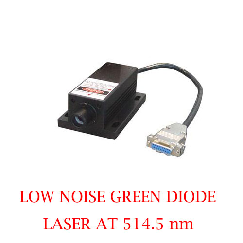 Easy Operating 514.5nm Low Noise Green Laser 1~50mW