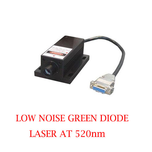 Long Lifetime Easy Operating 520nm Low Noise Blue Laser 1~50mW
