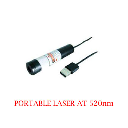 High stability Long Lifetime 520nm Green Portable Laser 1~50mW