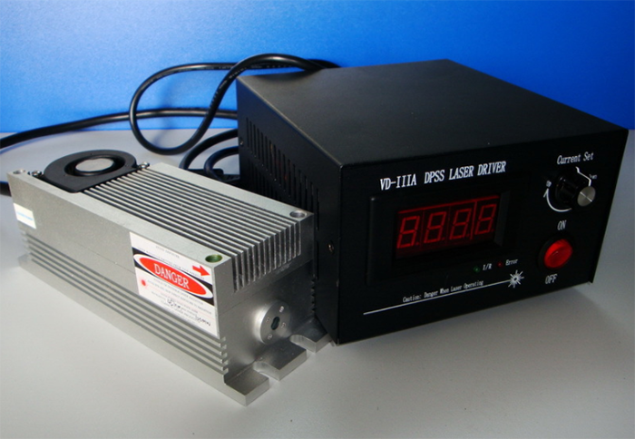 532nm 2W Solid State Laser With TTL Modulation Small Divergence Angle Laser