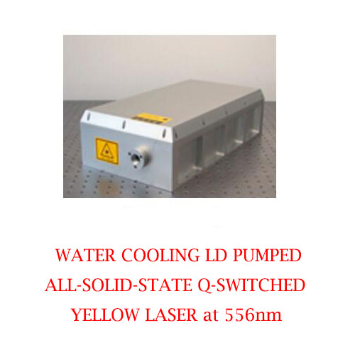 High Peak Power 556nm Solid State Q-switched Laser With Water Cooling 2~5mJ/20~50W