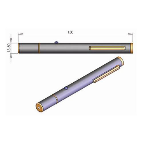 Special Safety Design 593.5nm Orange Laser Pointer 2mW