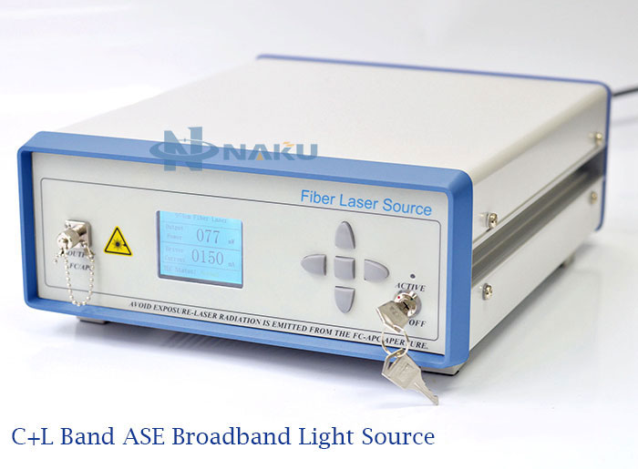 C+L Band ASE Broadband Light Source 3dB Flatness 10mW~30mW power