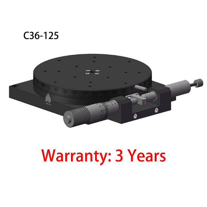 Rotary table double bearing design Manual Fine Tuning Stage With High Accuracy C36-125 φ125mm