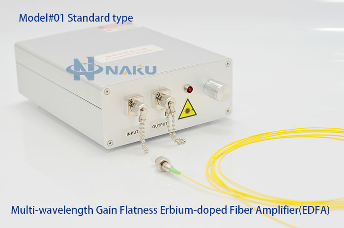 Multi-wavelength Gain Flatness Erbium-doped Fiber Amplifier(EDFA) Booster-Amplifier