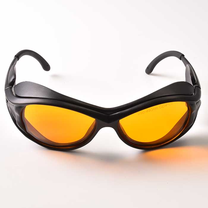 190nm-490nm Laser Protective Glasses Protect UV And Blue Solid State Laser