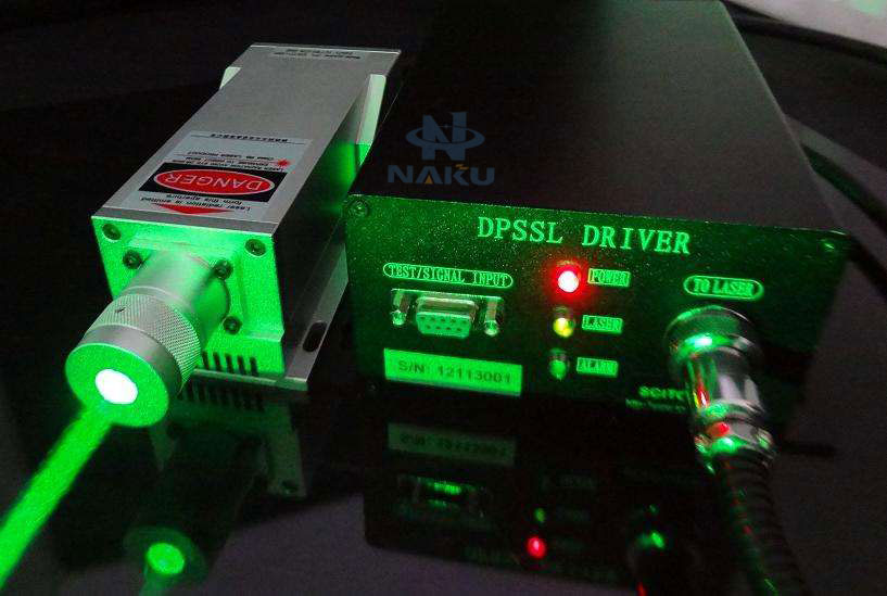 532nm 500mW LD Solid State Green Laser Power Adjustable